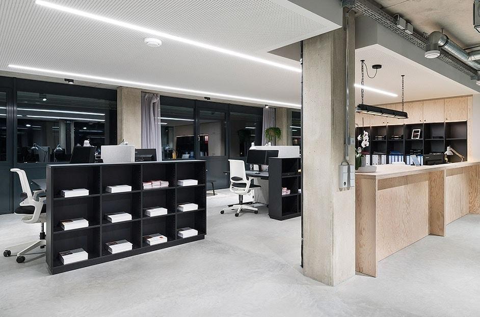 Aktenordner im Büro von OptimoBercher